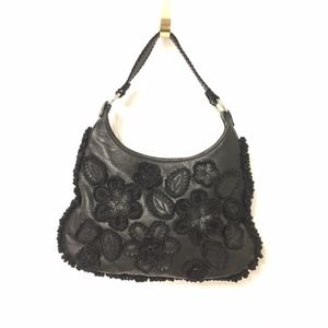 Isabella Fiore Leather Floral Embroidered Purse